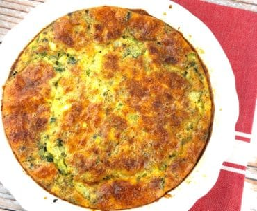 broccoli and cheddar crustless quiche