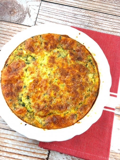 broccoli and cheddar crustless quiche