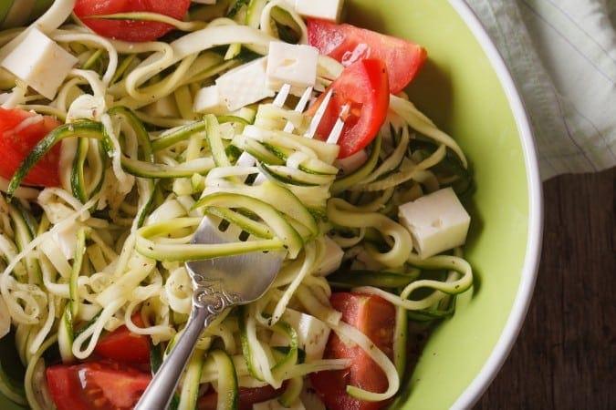 Zucchini Pasta with Feta