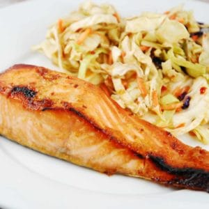 broiled miso salmon