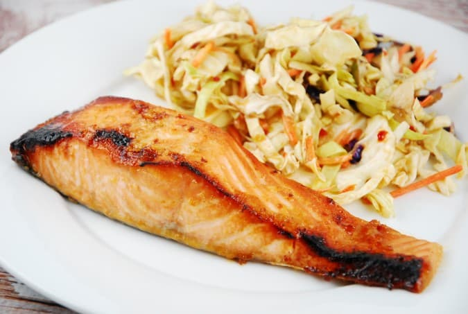 Broiled Miso Ginger Salmon