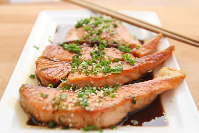 Salmon with Orange Soy Glaze