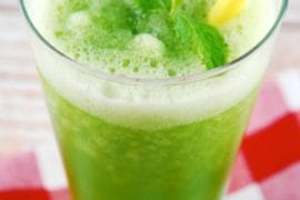 mint lemonade slushy