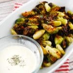 Roasted Brussel Sprouts with Lemon Garlic Dip – 1 Smart Points