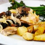 Mushroom Chicken with Creamy Wine Sauce Recipe – 6 Smart Points