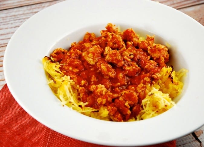 Spaghetti Squash and Turkey Bolognese