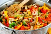 peruvian chicken stir fry