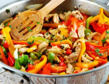 peruvian chicken stir fry