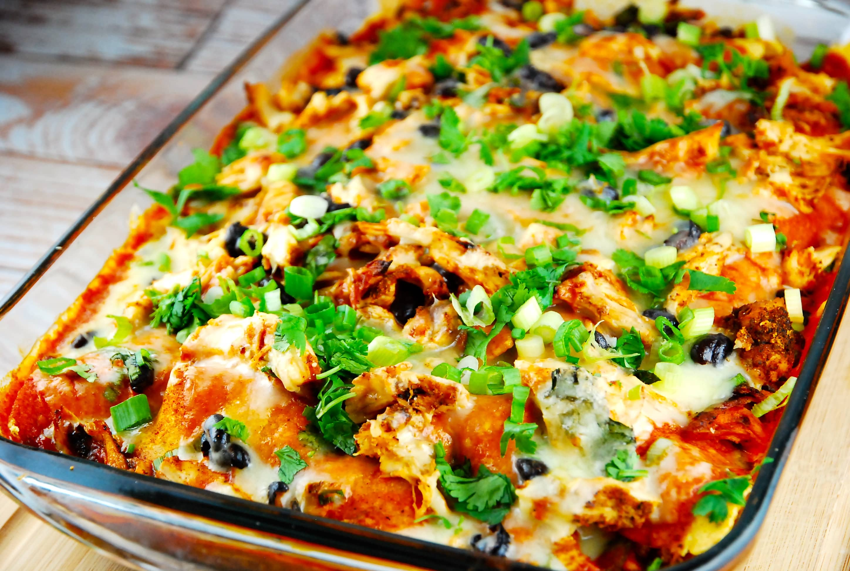 Chicken Enchilada Casserole Recipe 8 Smart Points Laaloosh