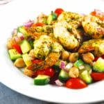 Moroccan Spiced Shrimp Over Garbanzo Bean Salad – 4 Smart Points