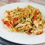 Chicken and Broccoli Slaw Salad with Almond Butter Dressing – 6 Smart Points