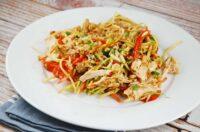 chicken and broccoli slaw salad