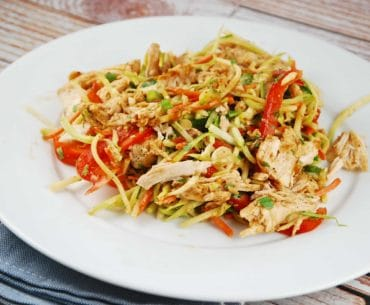chicken and broccoli slaw salad