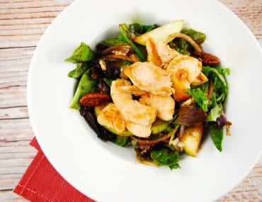 grilled chicken pear and candied pecan salad