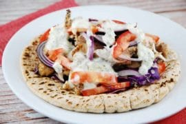 open faced chicken gyro