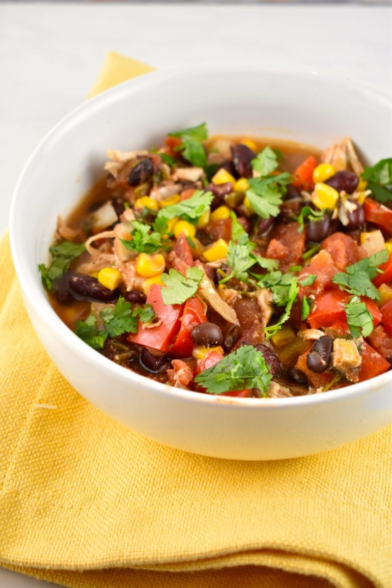 Crock Pot Chicken Taco Chili Recipe - 0 Points - LaaLoosh