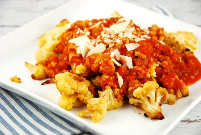 Roasted Cauliflower Chicken Bolognese