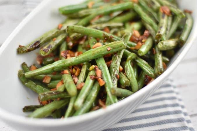 Chinese Garlic Green Beans - 1 Smart Point - LaaLoosh