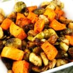 Roasted Brussel Sprouts and Sweet Potatoes Recipe – 4 Points