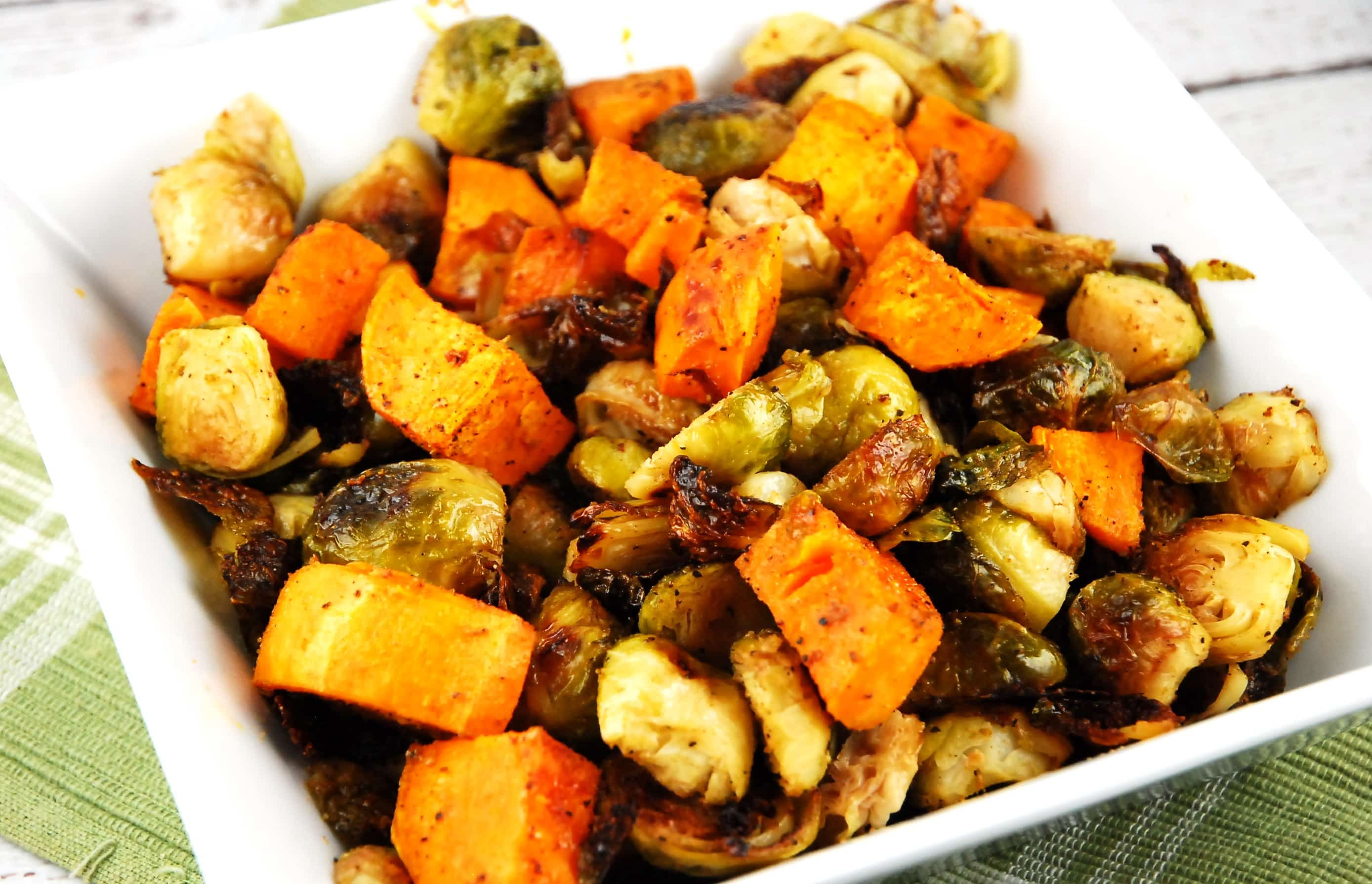 Roasted Brussel Sprouts and Sweet Potatoes Recipe - 4 ...