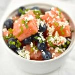 Watermelon Blueberry Mint Salad with Feta – 1 Point