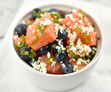 watermelon blueberry salad