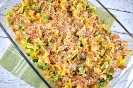 chicken and broccoli noodle casserole