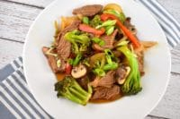 beef and vegetable stirfry