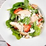 Grilled Chicken Spinach and Strawberry Salad Recipe – 5 Points