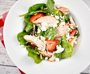 grilled chicken spinach strawberry salad