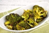 quick roasted broccoli with soy sauce