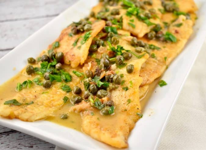 Sole piccata recipe 6 smart points laaloosh for Sole fish nutrition