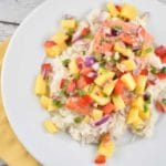 Roasted Lime Salmon with Mango Salsa Recipe – 1 Point