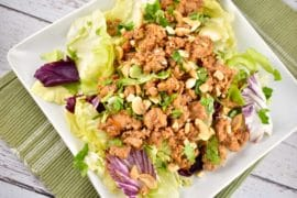 asian chicken lettuce wrap bowl