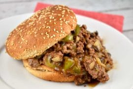 philly cheesesteak sloppy joe
