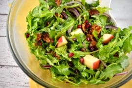 pomegranate apple date salad