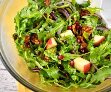pomegranate apple date salad