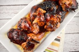 roasted honey soy glazed chicken