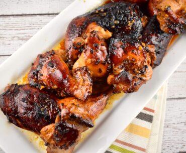 roasted honey soy glazed chicken