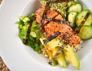 asian salmon bowl