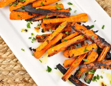 roasted garlic butter carrots