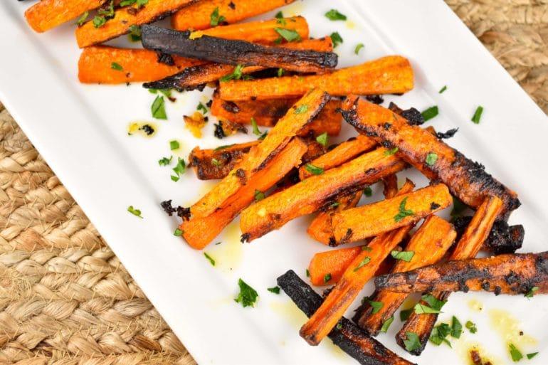roasted garlic butter carrots