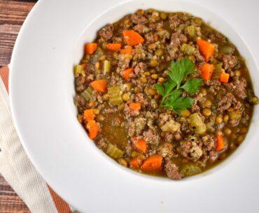 lentil beef quinoa soup