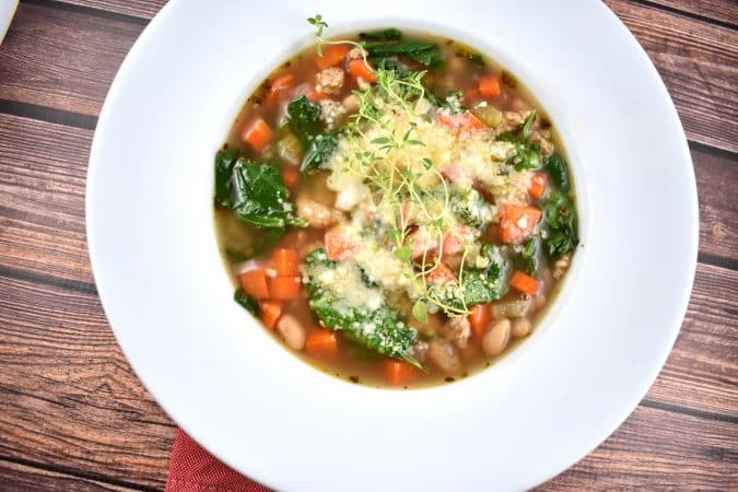 Tuscan White Bean and Sausage Soup