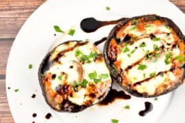 caprese stuffed portobello 2