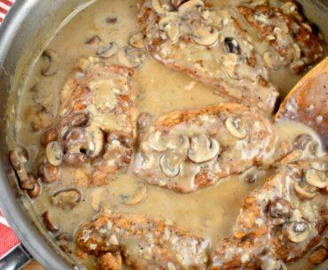 creamy mushroom garlic chicken