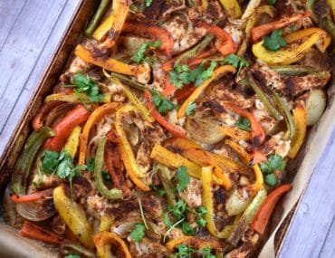 sheet pan chicken fajitas