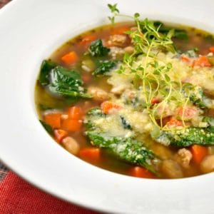 tuscan style white bean and sausage soup