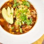 Instant Pot Chicken Enchilada Soup Recipe – 1 Point