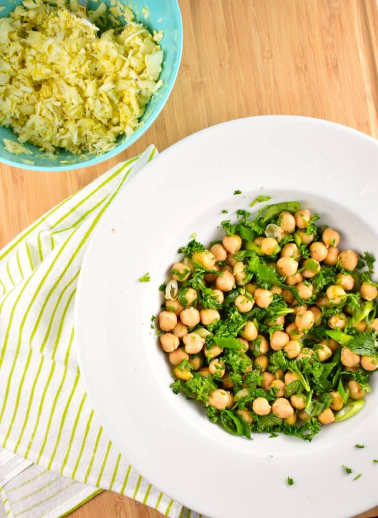 Egg and Chickpea Salad